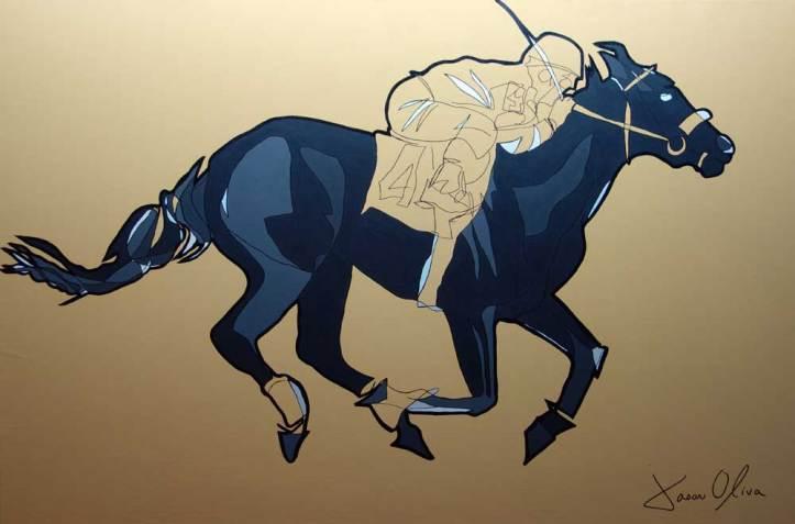 jason_oliva_racehorse_2013_paiting_commission_sold