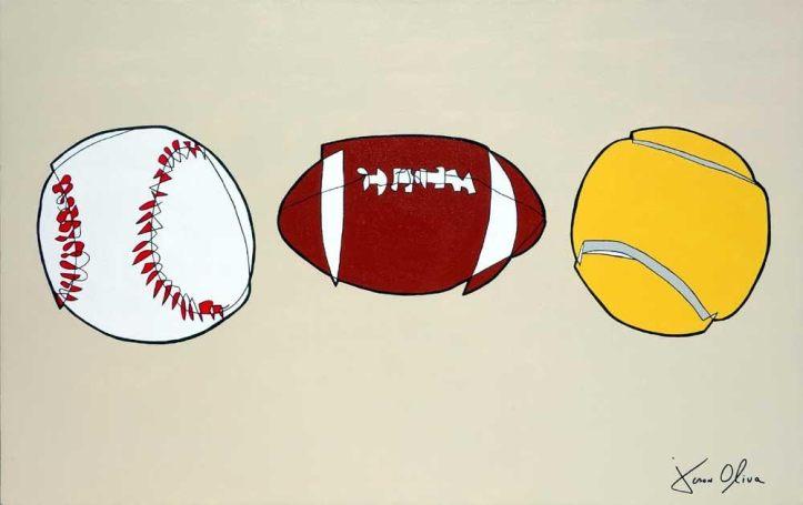 sports_baseball_football_tennisball_2015_jason_oliva_painting