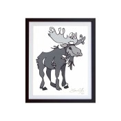 Moose-Grey-framed-small-work-on-paper-jason-oliva