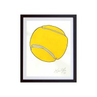 Tennis Ball (Color) SMall Framed Work on Paper by Jason Oliva