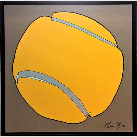 Tennis Ball 2015 Painting available for purchase by Jason Oliva