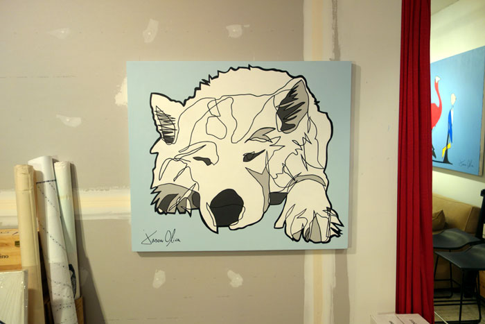 Lumi dog portrait in Jason Oliva's Studio