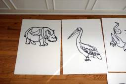 Pelican white medium work on paper by Jason Oliva