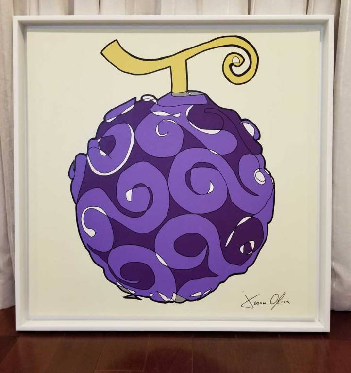 Jason Oliva sold painting of a Gum Gum Devil Fruit from One piece Anime/Manga
