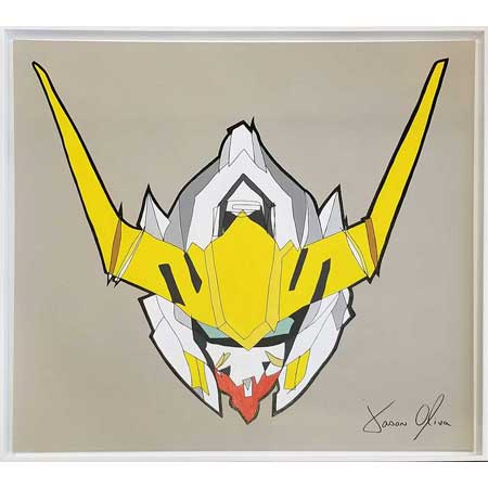 Recently sold painting Gundam Barbatos 2019by Jason Oliva