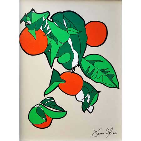 Renoir Oranges painting by Jason Oliva 2018 available for purchase