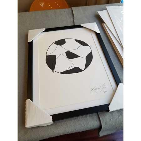 Jason Oliva Soccer Ball small work on paper