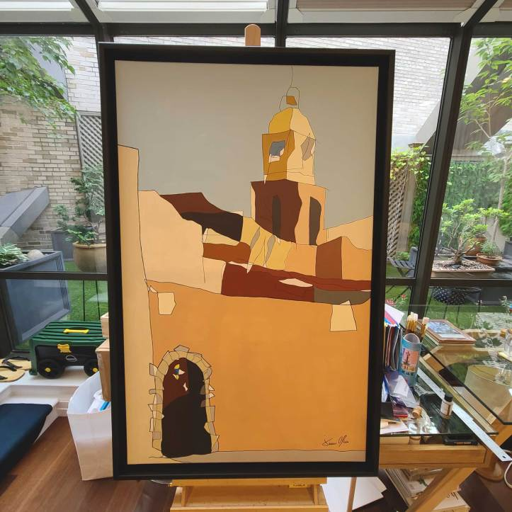 St Tropez New Painting by Jason Oliva framed and in the studio