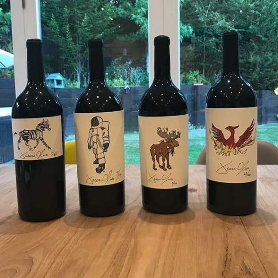 Jason Oliva Wine Stripey Horse 2008 Astronaut 2010 Moose 2011 Phoenix 2010 Magnums in England