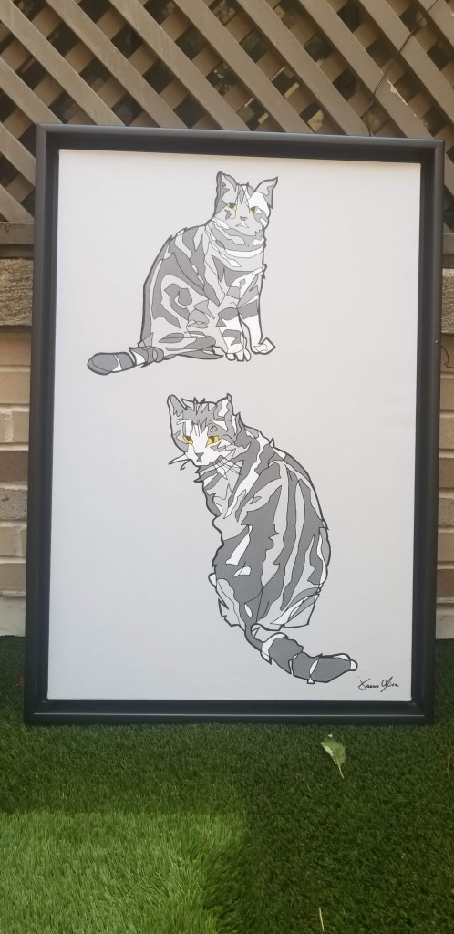 Cat commission painting by Jason Oliva