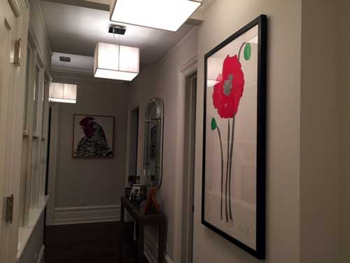 Poppy large color work on paper by Jason Oliva