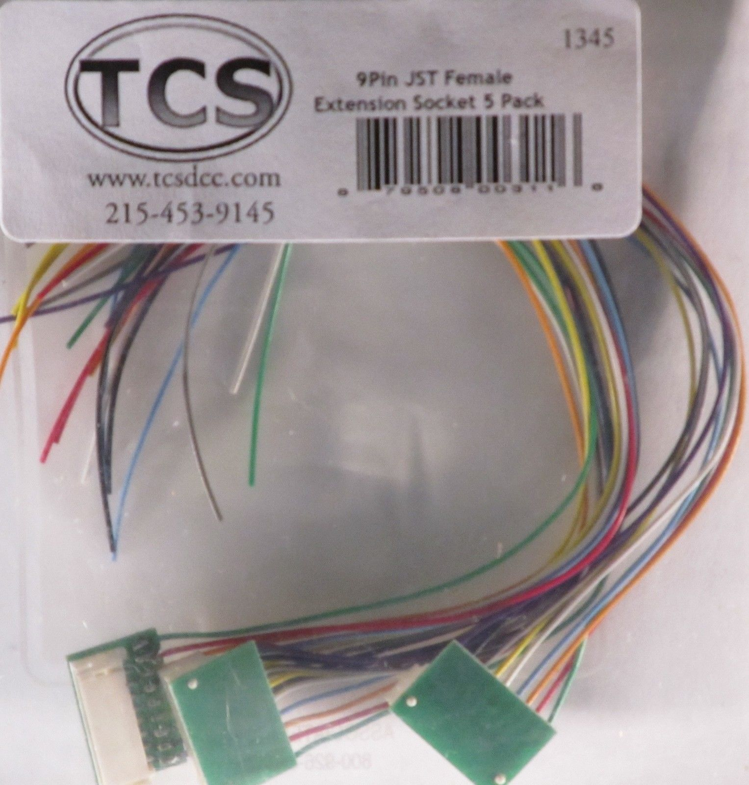 TCS HO 9 Pin JST Extension Socket NEW 1345 Free Shipping!  Pin Wiring Harness on
