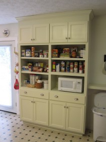 A floor-to-ceiling custom built pantry