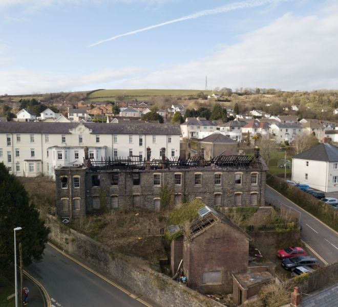 the-old-workhouse-fore-carmarthenjournal-walesonline-cymru-editorial-carmarthenshire-drone-aerial