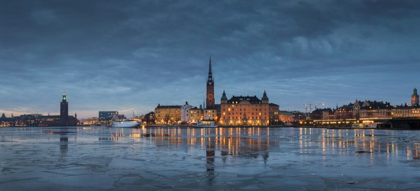 STOCKHOLM ON A CLOUDY DAY.