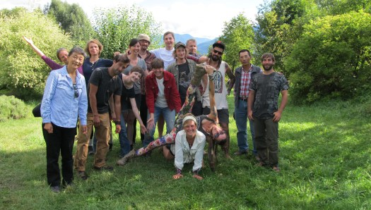 The wonderful plant people of the 2014 August PDC course on Spiral farms.