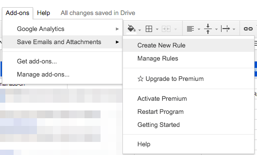 Finding and saving purchase receipts in email to Google Drive 2