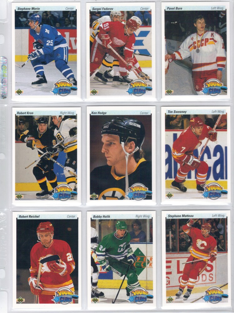 1990-91 Upper Deck Hockey Cards (4/6)