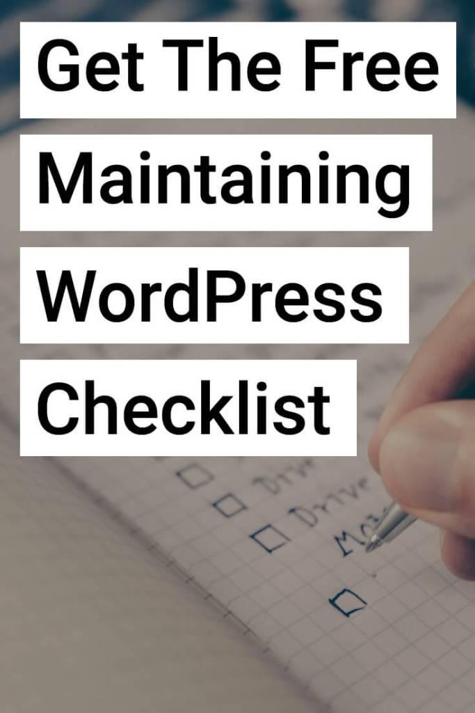 Maintaining WordPress Sites