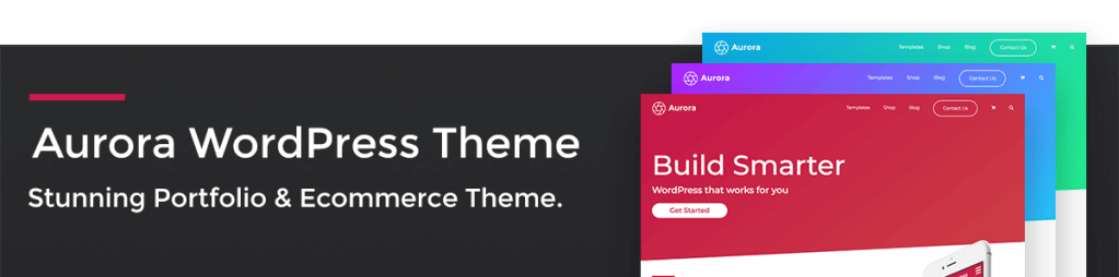 Aurora WordPress Theme Banner
