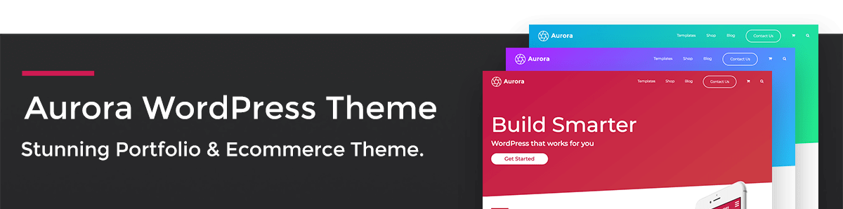 Aurora WordPress Theme Banner
