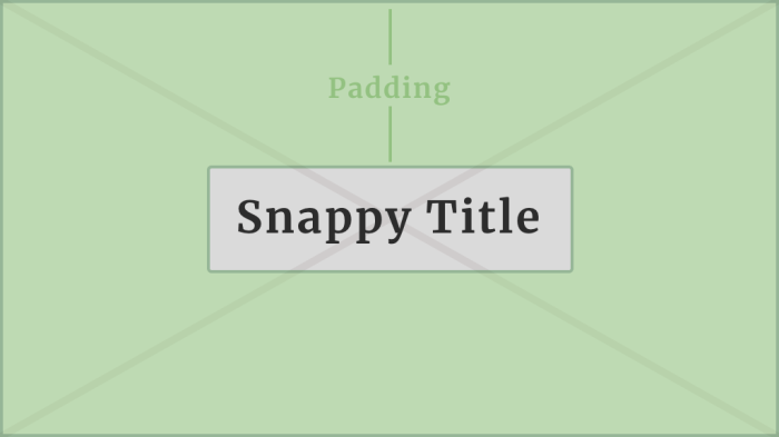 An example background image with padding around a centered title.