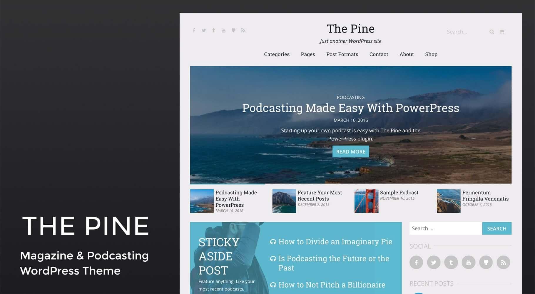 The Pine WordPress Theme | Jason Yingling