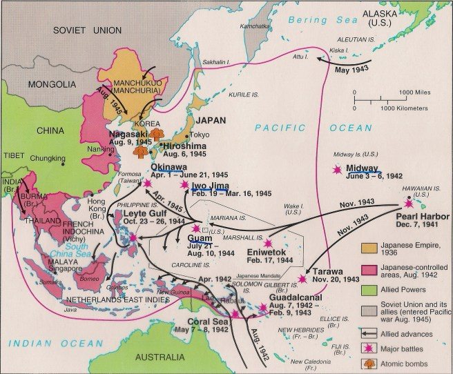 Map - War in the Pacific