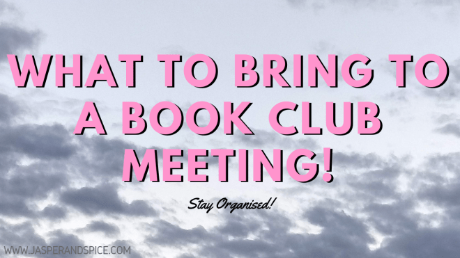 What to Bring to a Book Club Meeting 2019 Header - What To Bring To A Book Club Meeting!