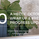 A HECTIC OCTOBER WRAP UP REALISE PROGRESS UPDATE 2019 Blog Header Storytime Wednesday - What The Woods Keep by Katya De Becerra | Spoiler-Free Review