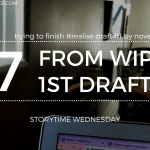 My Writing Goals  Finishing Realise Draft 1 Before NaNoWriMo Begins 2019 Blog Header Storytime Wednesday - Top 5 YA Contemporary Must-Reads! (Oct 2019)