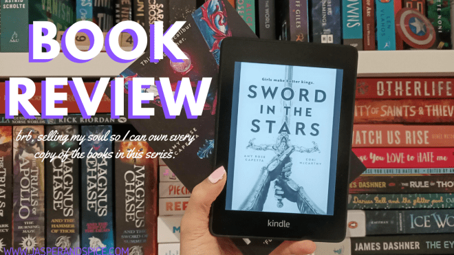 SWORD IN THE STARS by Amy Rose Capetta and Cory McCarthy Spoiler Free Book Review 2020 Header - SWORD IN THE STARS by Amy Rose Capetta & Cory McCarthy | Spoiler-Free Book Review