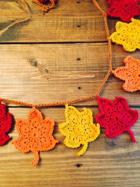 Crochet Maple Leaf Garland