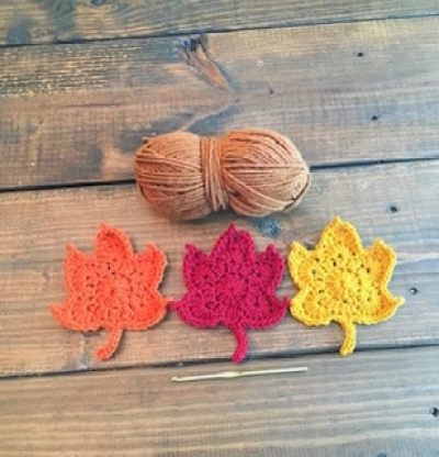 crochet tutorial beginner autumn leaf garland