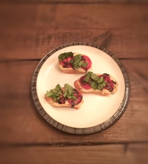 Caprese Toast Points