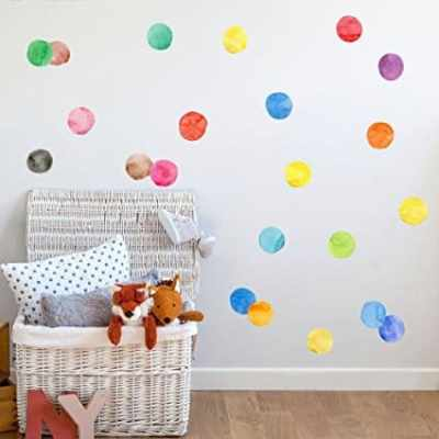 The Best Playroom Decor Finds On Amazon - colorful dots decals