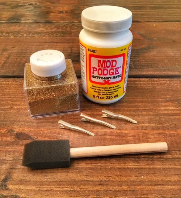 Easy DIY Glitter Hair Clip - Full Tutorial