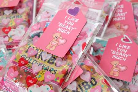 free printable I like you beary much valentine
