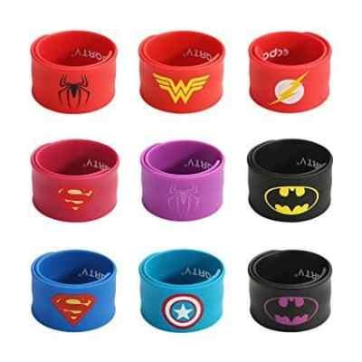 superhero slap bracelets