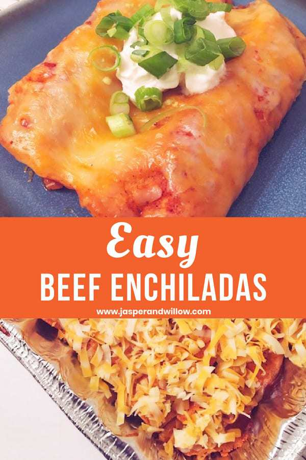 freezer friendly beef enchiladas