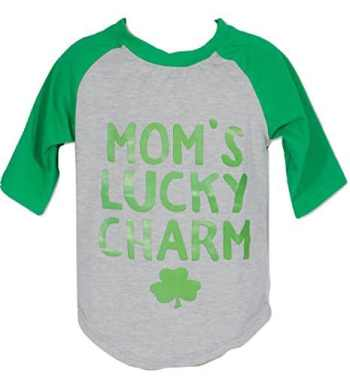 St Patrick's Day Fashion For The Whole Family Mom's Lucky Charm Tee