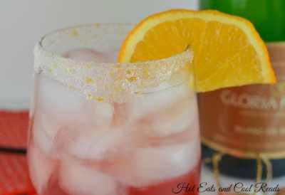 cranberry cocktails for holiday party - cranberry orange sparkling wine