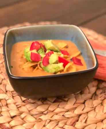 chicken enchilada soup in bowl