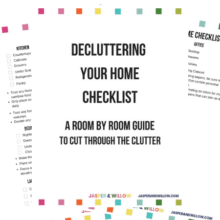 decluttering your home checklist