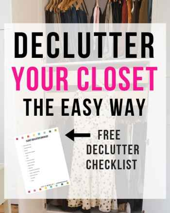 how to declutter clothes and closet the easy way