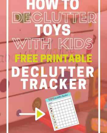how to declutter toys with kids