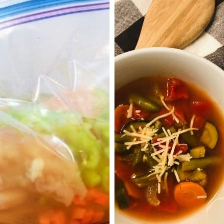 make ahead soups for chicken soup and minestrone soup