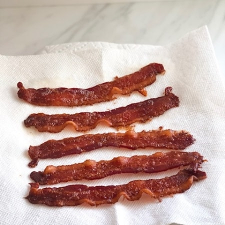 make ahead bacon on paper towel lined plate