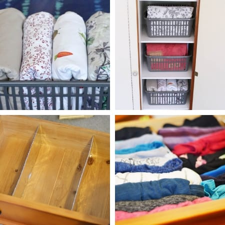 diy closet organization ideas with linen closet and drawer dividers