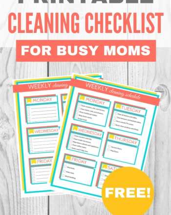 printable cleaning checklist for busy moms